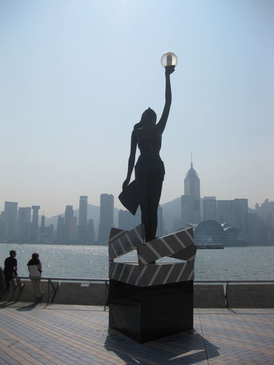 Behold Behold The Light Hong Kong Statue Street Lamp Street Lamp Statue The Light