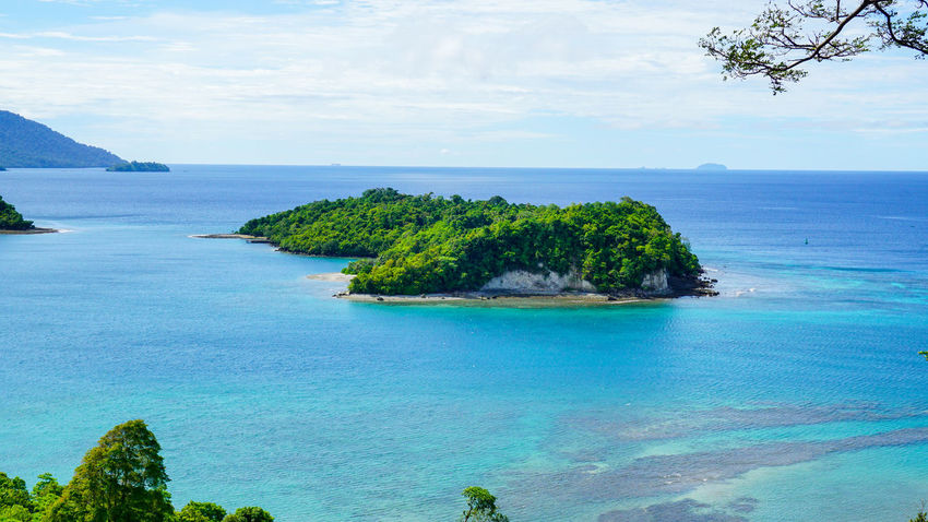 An Island at Sabang Island Indonesia with clear blue water Aceh Aceh, Indonesia INDONESIA Acheh Beach Beauty In Nature Blue Cloud - Sky Day Horizon Over Water Idyllic Landscape Nature No People Outdoors Sabah Sabang Island Sabangisland Scenics Sea Sky Tranquil Scene Tranquility Tree Water