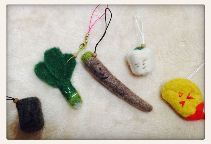 Needle felting. My piece of work Needlefelting Vegetables