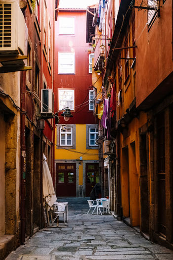 Architecture Built Structure Building Building Exterior Residential District Direction Alley City The Way Forward No People Narrow Day Empty Window Street House Outdoors Wall Absence Old Long Apartment