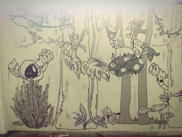 Cartoon Dibujos Animados Arte Urbano  Guatemala