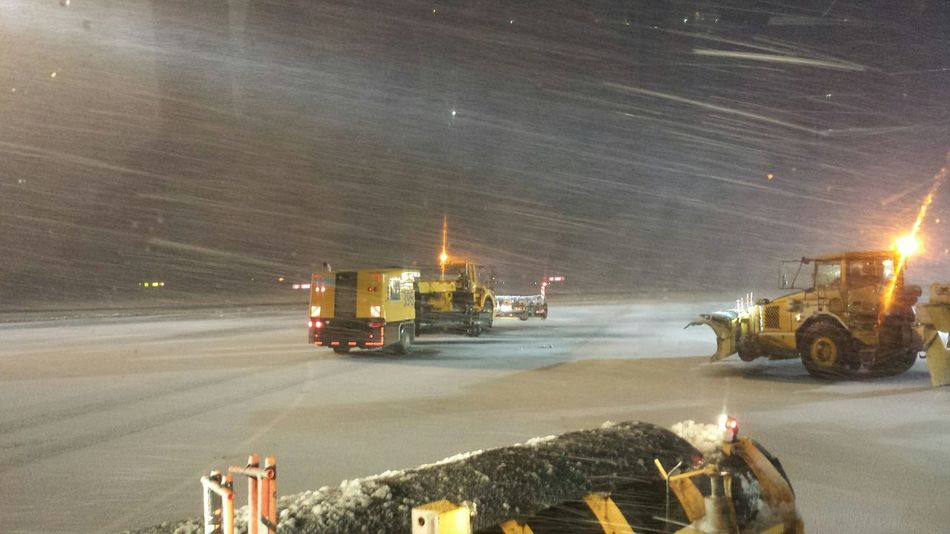 At The Airport Heavy Equipment Snowplow Apron Winter How's The Weather Today? Learn & Shoot: After Dark