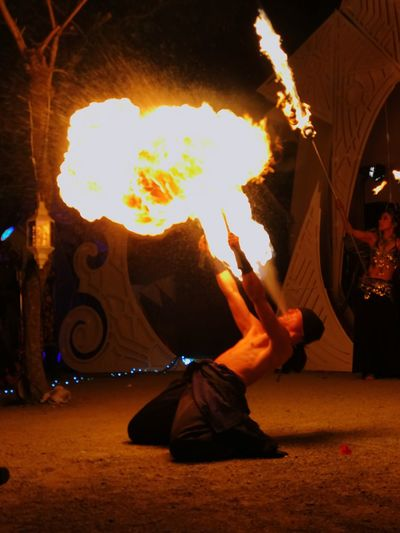 Fire breather at Dance of Shiva. Skill  Performance Arts Culture And Entertainment Dancing One Person Burning Flame Fire Dancer Fire Japan Japan Photography Izu