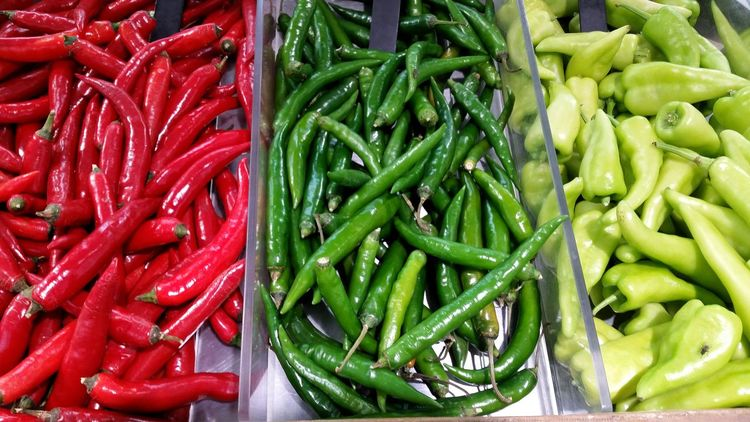 Vegetable Freshness Food Food And Drink Green Color Healthy Eating Abundance Red No People Large Group Of Objects Indoors  Day Close-up Redhot Redhotchilipeppers Chili  Peppers Red Green