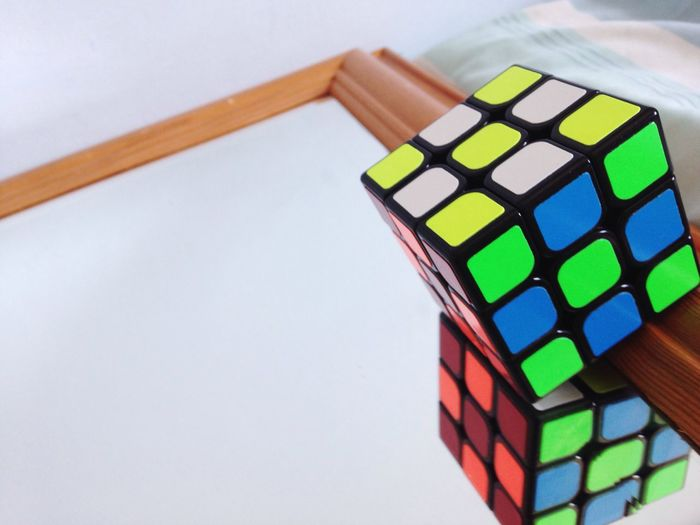 Trying out something new. Puzzle  Rubikscube Mirror Abstract Still Life