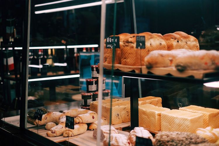 Close-up of food for sale in store