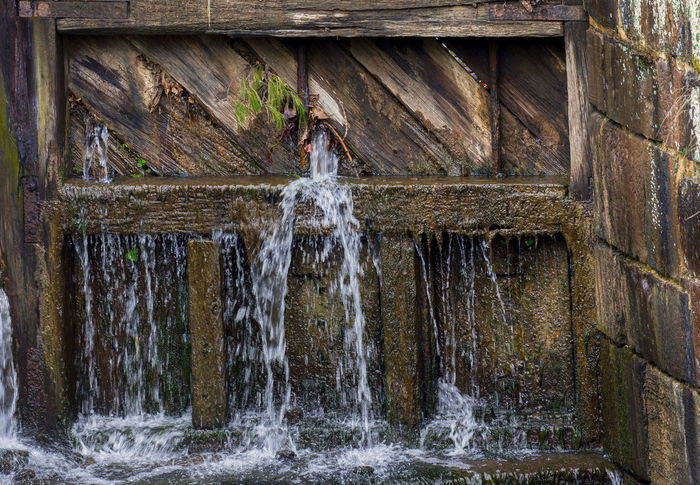Leaky lock gates Architecture Beauty In Nature Blurred Motion Canal Flowing Flowing Water Leaking Water Lock Gates Long Exposure Motion Nature Outdoors Scenics - Nature Sluice Gates Splashing Water Waterfall Wood - Material