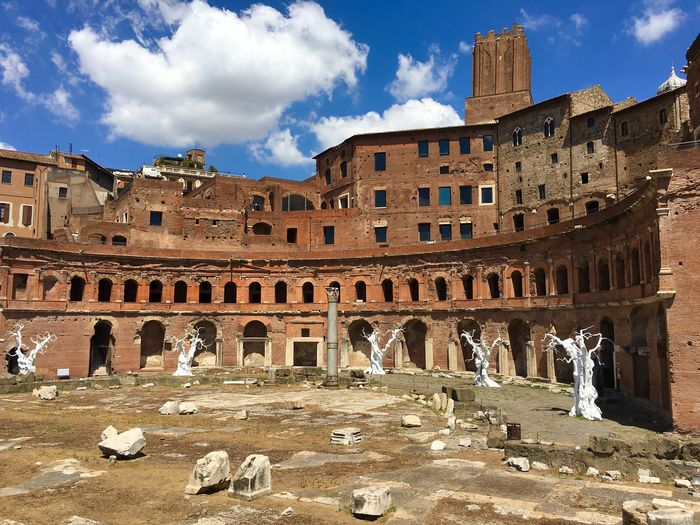 Travel Destinations History Tourism Travel Architecture Tourist Ancient Old Ruin Amphitheater Outdoors People Sky Day Foro Romano Roma Italia Frainf