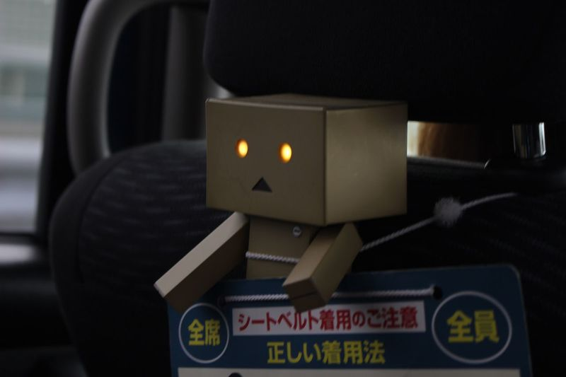 danboard ridind in the rental car Chase Rental Car Car Rental Car Lighting ダンボー写真部 ダンボー Otaku Japanese  Japan Photography Japan Figure Danboard Indoors  Focus On Foreground No People Close-up Day Time AI Now
