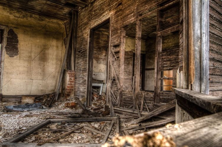 The Secret Spaces Abandoned Rotting Wood - Material Architecture Run-down Built Structure Bad Condition Brown Home Interior Obsolete Rural Scene Indoors  House Textured  Unhygienic Old-fashioned Domestic Room Destruction Day No People North Dakota