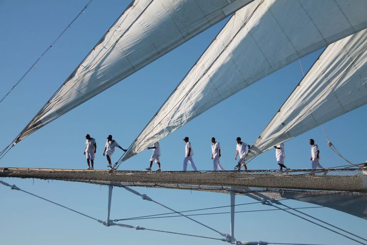 Sail Away, Sail Away Sailing Sailing Crew Taking Photos Hello World Enjoying Life People At Work Sailing Trip From My Point Of View Blue Sky Blue Sky Anf Sails