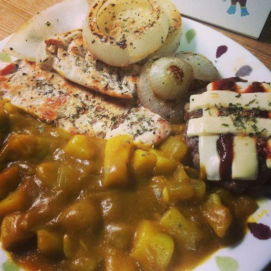 닭가슴살구이 햄버거패티 카레! Delicious Food My Cooking Cook