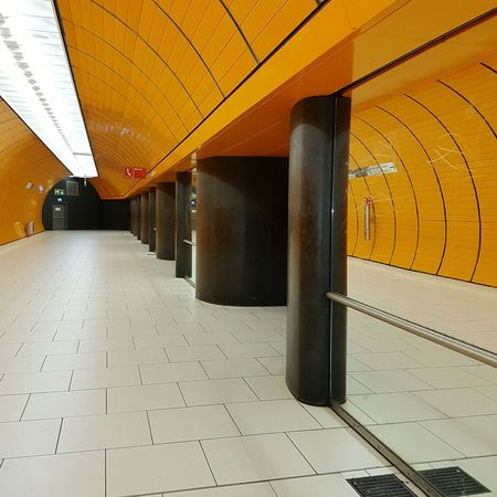 Architecture Indoors  Built Structure No People Day Subway Hallway Subwayphotography Subway Platform Subway Station Subway Photography