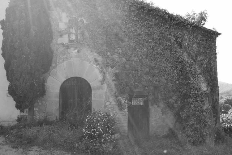 Old rectory,San Genis de Palafolls, Built Structure Day No People Lonely House Sun Goes Down