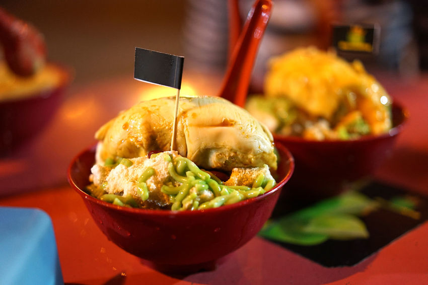 Durian Cendol Cendol Dessert Malaysia Truly Asia Malaysian Food Penang Penang Island Bowl Cendol Durian Food Woonhong