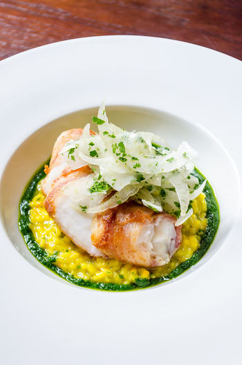 Meal Fennel Fish Food Food And Drink Foodphotography Freshness Garnish Gourmet Healthy Eating Indoors  Luxury No People Organic Plate Ready-to-eat Risotto Seafood Serving Size Still Life Table Tabletop Wellbeing Yummy