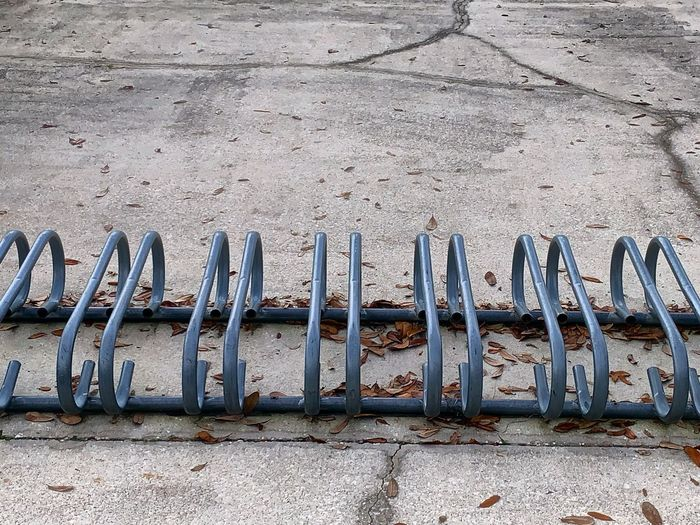 Row of old metal wall