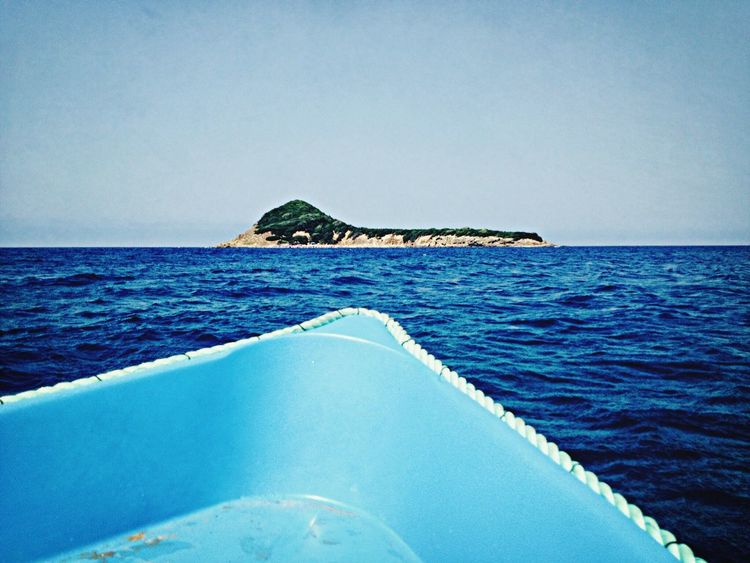 Sea Island Boat Relaxing