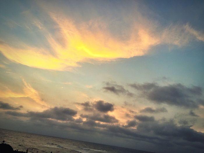 Sun explosion in the sky