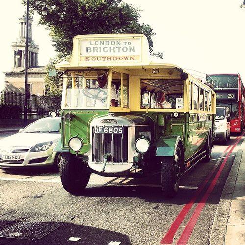 London to Brighton . Brixton Bus commute