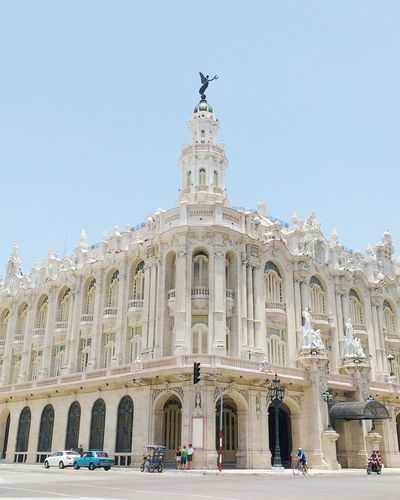 Historic Gran Teatro De La Habana In City Against Sky