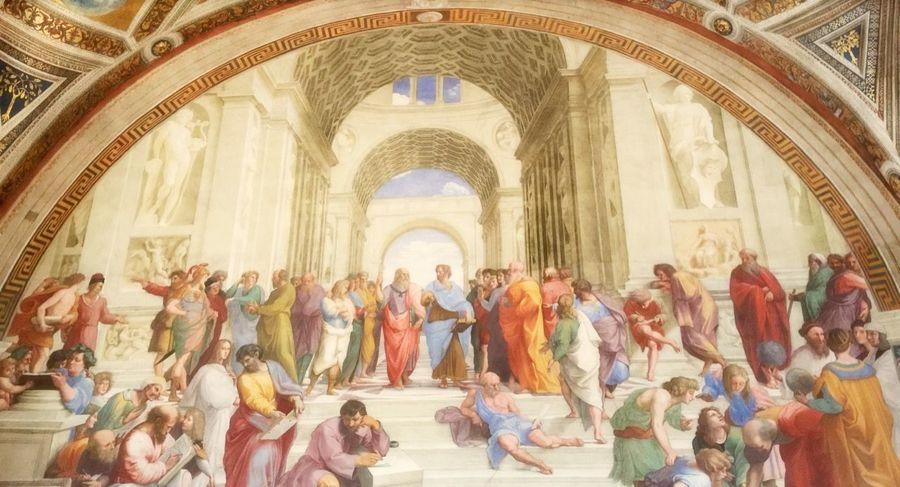 ヴァチカン市国、アテネの学堂✨ Vatican Italy Italia Traveling Travel TravelCHINOmrk Rafael  Ilustracion Art 世界遺産