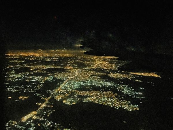Night Aerial View Illuminated Scenics No People City Outdoors Sky Beauty In Nature Cityscape Star - Space Galaxy Satellite View Astronomy
