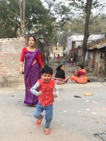 Mother And Son Mischievous Boy try to run Mother Care Best Picture