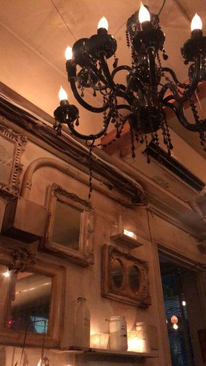 Cafe Low Angle View Lighting Equipment Built Structure Architecture No People Chandelier Decoration Light Electric Light
