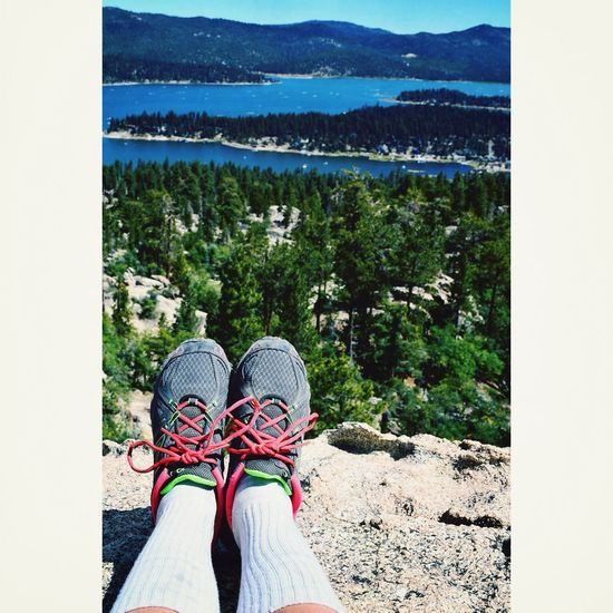 Face your fears and conquer them Rock Climbing Mountain Hike Big Bear