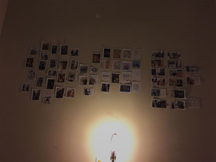 Picture Wall Aesthetic Indoors  Light And Shadow Lightbulb No People Pictures