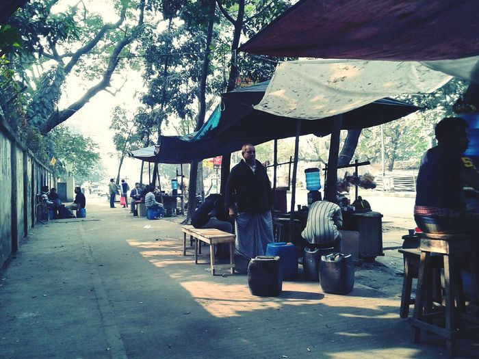 What would be better than hanging out with friends in a Winter morning in Tong ( Bangladeshi tea stalls) First Eyeem Photo