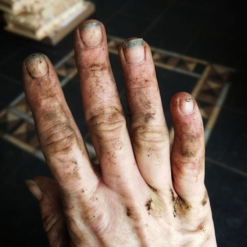 EyeEm Selects Dirty Human Body Part Close-up People Human Hand Adult One Person Day Outdoors Adults Only Hand Hands At Work Dirty Hand Dirty Hands Ladies Hand Right Hand Gardening Working In My Garden EyeEmNewHere Huawei P10 Plus Broken Nails Good For The Soul Good For My Soul Manual Work Be. Ready.