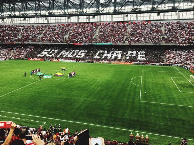 Chapecoense chape Stadium Soccer Crowd Large Group Of People Competition Soccer Field