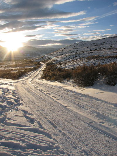 Showcase: January Eyem Best Shot - My World Winterscapes From My Point Of View Sun_collection, Sky_collection, Cloudporn, Skyporn Mountains And Sky Winter Landscape Wyoming USA Secluded  Fresh Air...