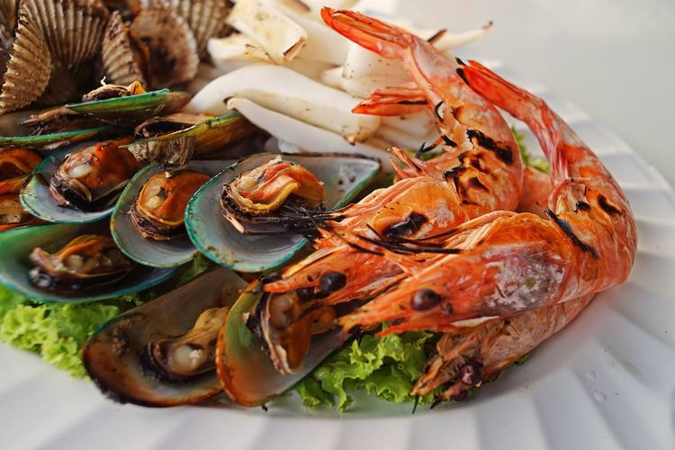 stream seafoods Stream Seafood Food Food And Drink Freshness Healthy Eating Seafood Wellbeing Plate Close-up Ready-to-eat Still Life Serving Size Squid Shrimp Mussels Ark Clam Blood Clam Thailand