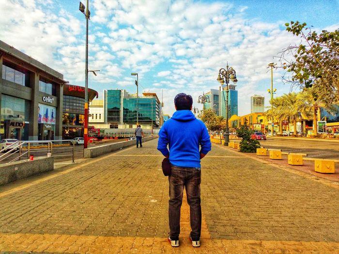 Rear View Full Length Real People Walking Sky Cloud - Sky Men