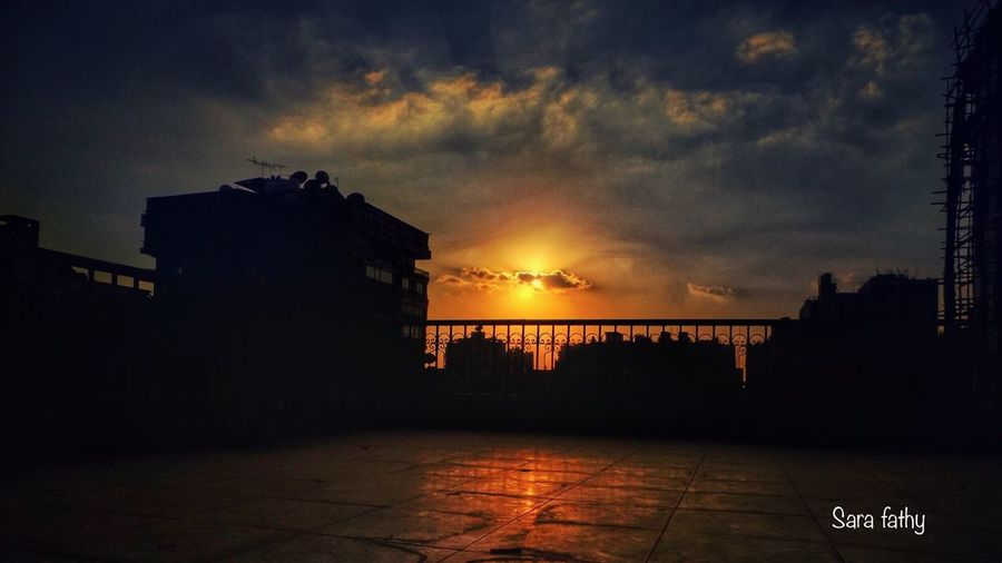Architecture Building Exterior Sky Built Structure Sunset Cloud - Sky City Outdoors No People Silhouette Nature Cityscape Natural Beauty Moments Looking For Beauty Photo Is Everything Mirror Of Life Camera Beauty In Nature Summer 2016 Photo Is Happiness Cairo Egypt