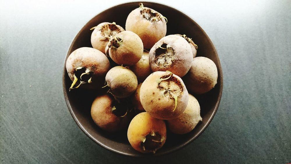 Medlar-Harvest Fruits Medlar Food Healthy Eating