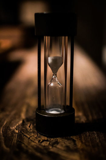 Close-up of hourglass