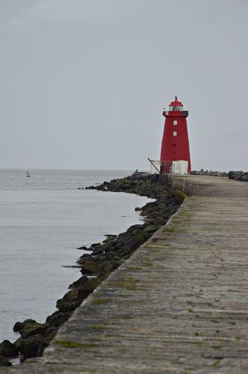 Dublin Bay Horizon Horizon Over Water Lighthouse Poolbeg Poolbeg Lighthouse Sea Sky Water