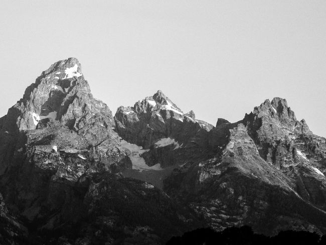 The Grand Teton Postcard EyeEm Nature Lover EyeEmNewHere Beauty In Nature Blackandwhite Clear Sky Day Grandteton Grandtetonnationalpark Landscape Monochrome Mountain Nature No People Outdoors Physical Geography Rock - Object Scenery Scenics Sky Tranquility Been There. Lost In The Landscape The Great Outdoors - 2018 EyeEm Awards