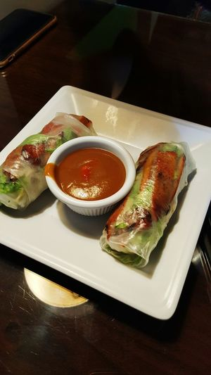 Lunch Time! Spring Rolls Vietnamese Food