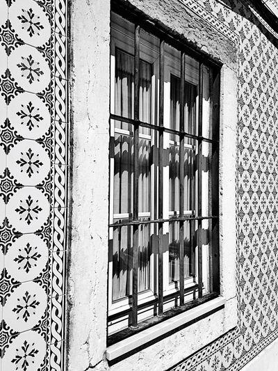 Houses House Houses And Windows of Lisbon Lisboa Lisbonne Portugal Streetphotography Typical Houses Urban Photography Geometry Geometric Art Urban Art Urbanstyle Street Streetart Window View Window Art Blackandwhite Black & White Blackandwhite Photography Light And Shadows