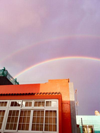 Doble arcoiris Rainbow Nature Beauty In Nature Romantic Sky Arcoiris