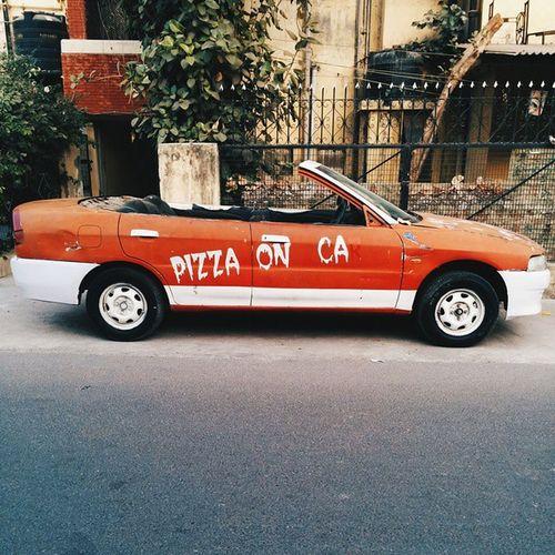 Pizza on car. Delhi Ig_Delhi Indiapictures VSCO vscocam