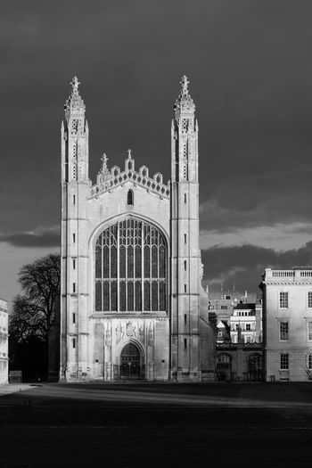Architecture Architecture Architecture_collection Blackandwhite Building Exterior Built Structure Bw Cambridge Chapel Church Close Up Day Exterior Famous Place International Landmark King's College Low Angle View Monochrome No People Outdoors Place Of Worship Religion Side By Side Spirituality Sunlit