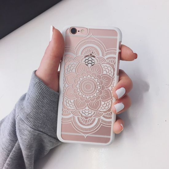 Iphone6s Apple Rosegold Case Phonecase Henna Nails 📱🎀