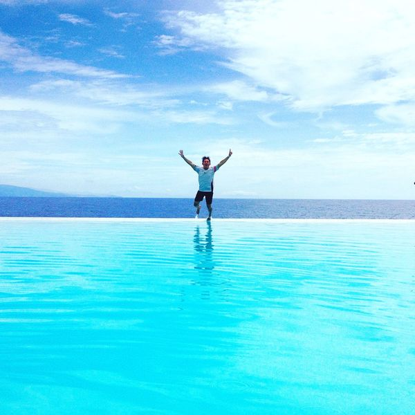 The action star On The Move at the top of my lungs. Over the top feeling like high powered & hyped-up, jumping inside infinity pool and our over looking sarangani bay. Ohh simply on the move bliss!!! First Eyeem Photo Newmission EyeEm On The Move