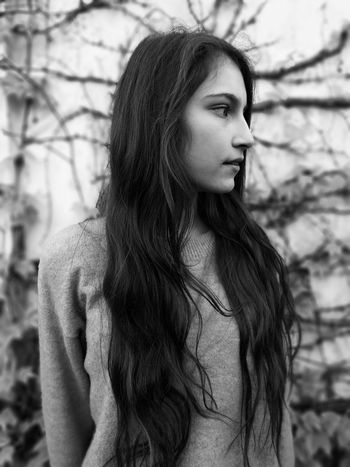 Long Hair Beauty Portrait Outdoors Monochrome Blackandwhite Dark Breeze Calm Face Half Face Portrait Slovakia Nature One Person Only Women Beautiful Woman Young Adult One Young Woman Only Adult Fashion Adults Only Beautiful People Human Hair People One Woman Only Fashion Model